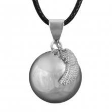 Harmony Ball Pendant With Angel's Wing