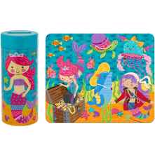 Tin Bank Puzzle - Mermaid