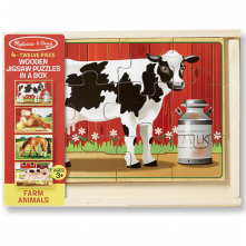 Farm Animals Jigsaw Puzzles in a Box