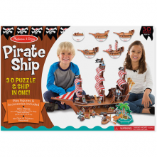 Pirate Ship 3D Puzzle and Play Set In One